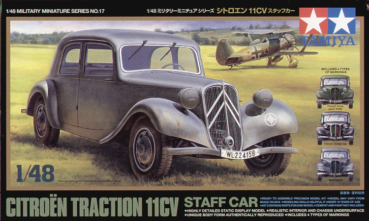 Tamiya (TA32517), Citroen Traction 11CV Staff Car, 1/48